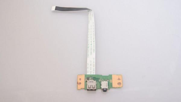 Toshiba Satellite Pro R50 USB Audio Port Board mit Kabel A3822A